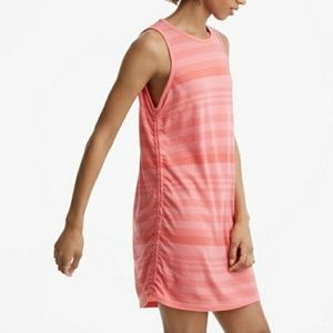 Lou & Grey Ruched Striped Dress